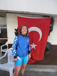 Många stjärnor (IFK Helsingborgs skidjacka och turkiska flaggan)